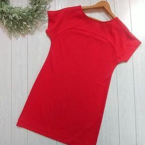 Old navy lipstick red T shirt dress oversized XS